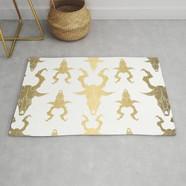 "Goat Skull Design- Gold - Mr.Phillip "" The Witch"" / Chilling Adventures of Sabrina / Halloween Rug"