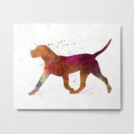 Dogo Canario in watercolor Metal Print
