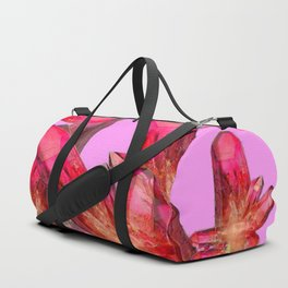 RED & GOLDEN CRYSTALS CONTEMPORAR ART Duffle Bag