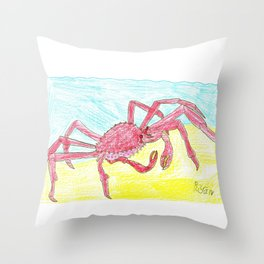 Giant Japanese Spider Crab Throw Pillow
