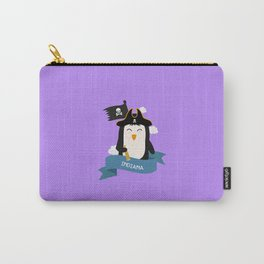 Penguin Pirate Captain from INDIANA  T-Shirt Carry-All Pouch