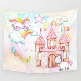 Unicorn Avalon Island Wall Tapestry