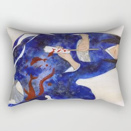 The Red candle and the Mermaid Rectangular Pillow