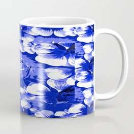 Roses Blue and White Toile #2 Coffee Mug