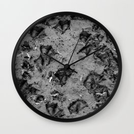 Black and White Duck Prints Wall Clock