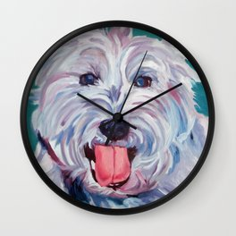 The Westie Kirby Dog Portrait Wall Clock