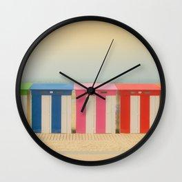 Beach cabins Malo Wall Clock