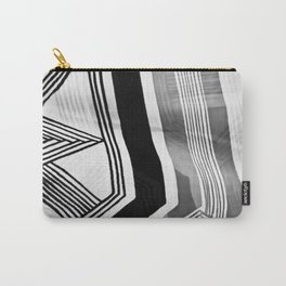 Modern Zebra Abstract Carry-All Pouch