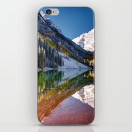 OLena Art Maroon Bells And Maroon Lake Near Aspen Colordo iPhone Skin