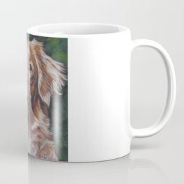 Nova Scotia Duck Tolling Retriever dog portrait from an original painting by L.A.Shepard Coffee Mug