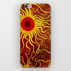 Psychedelic Susan 003, Sunflowers iPhone & iPod Skin