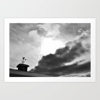 Dramatic Weathervane Art Print