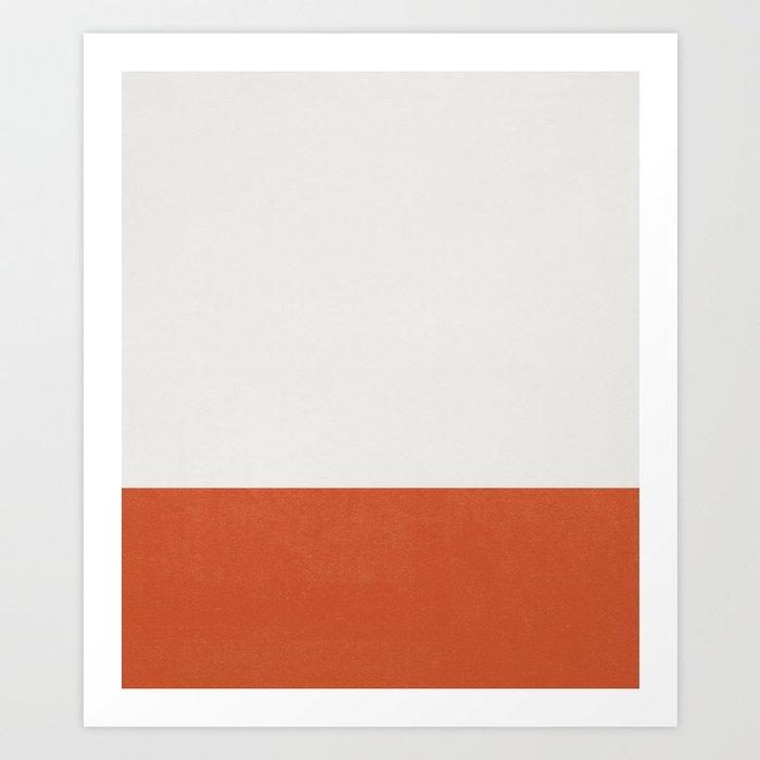 Burnt Orange Color Block Kunstdrucke