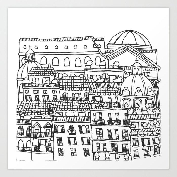 Rome, Italy Art Print