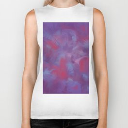 Abstract Painting in Purple, Red and Blues Biker Tank