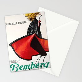 old poster fodere bemberg occhio alla fodera Stationery Cards