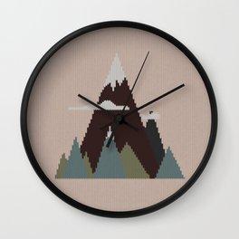 Misty Mountain Knit Wall Clock