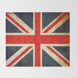 Vintage Union Jack British Flag Throw Blanket