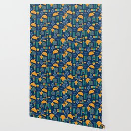 Happy pattern with turtles and cacti Wallpaper