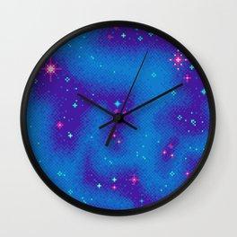 Indigo Nebula (8bit) Wall Clock