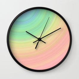 Abstract Pastel Rainbow I Cute abstract circles, gradient pattern Wall Clock