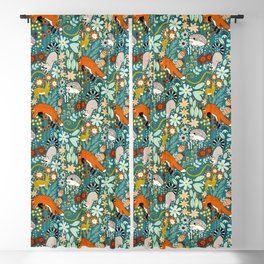 Woodland Pattern Blackout Curtain