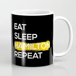 Eat Sleep Hamilton Repeat II Coffee Mug
