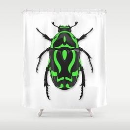 Fiddler Beetle Shower Curtain