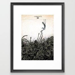 Dungeons Of The Internet Framed Art Print