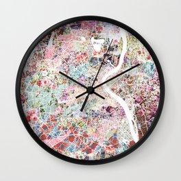 Bordeaux map, france Wall Clock