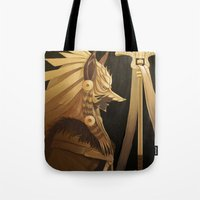 black and gold Tote Bags featuring Black & Gold by Cruz'n Creations