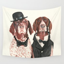 german short hair pointers - F.I.P. @ifitwags (The pointer brothers) Wall Tapestry