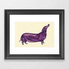 Dachshund / Wiener Dog (Dog Friends, II). Framed Art Print