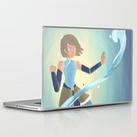 legend of korra Laptop & iPad Skins featuring [Legend of Korra] Water by samarasketch