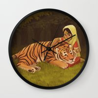 into the wild Wall Clocks featuring Wild by Alyssa Tallent