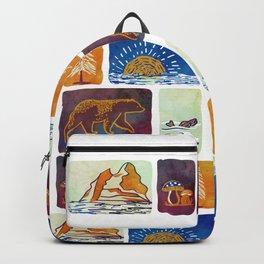 Outdoor Trip Watercolor Backpack