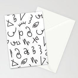 Secret Lettering Stationery Cards