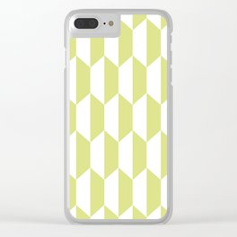 Classic Trapezoid Pattern 731 Chartreuse Clear iPhone Case