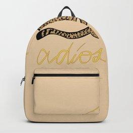 ADIOS CHEETAH modern graphic design Backpack