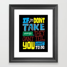 The key to the whole thing Framed Art Print