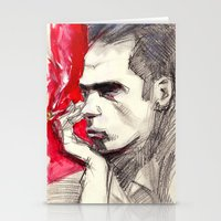 nick cave Stationery Cards featuring Nick Cave by Smog