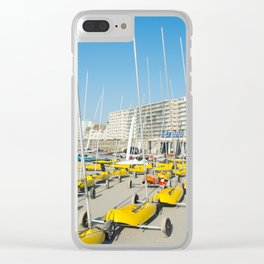 Sand yachting land yachting Clear iPhone Case