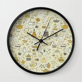 Teapots #2 Wall Clock