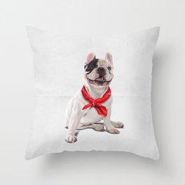 Frenchie (Wordless) Throw Pillow