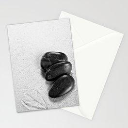 massage stones and leaf mark Stationery Cards