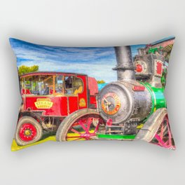 Traction Engine And Steam Lorry Art Rectangular Pillow