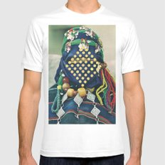 Dotted Tribe Mens Fitted Tee MEDIUM White