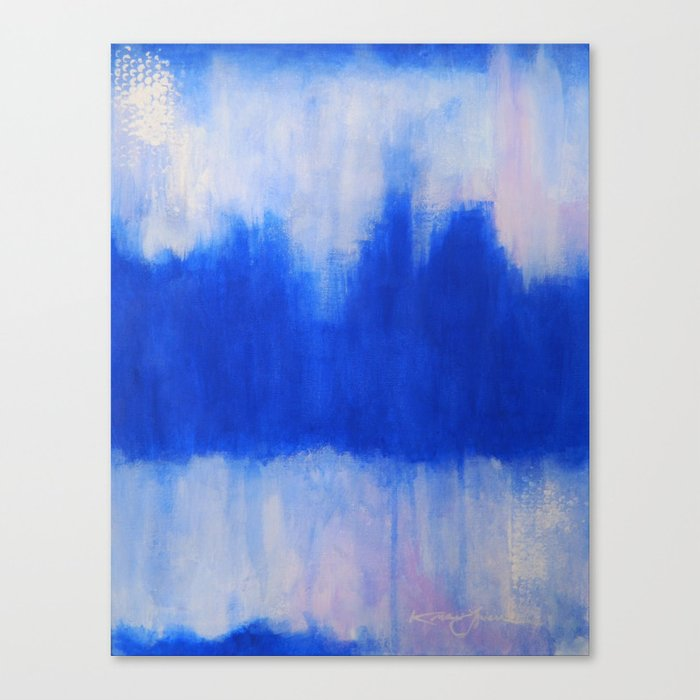 Patches of Blue Canvas Print