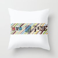 amy pond Throw Pillows featuring Amy Pond by colleencunha