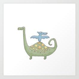 Dino Friends Art Print